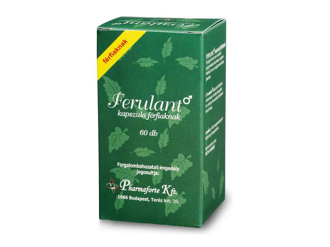 Ferulant: gyógyhatású készítmény a megtermékenyítő képesség támogatására.